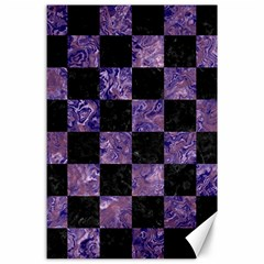 Square1 Black Marble & Purple Marble Canvas 24  X 36  by trendistuff