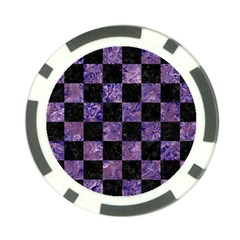Square1 Black Marble & Purple Marble Poker Chip Card Guard by trendistuff
