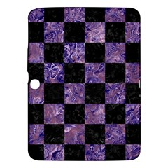 Square1 Black Marble & Purple Marble Samsung Galaxy Tab 3 (10 1 ) P5200 Hardshell Case  by trendistuff