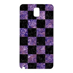 Square1 Black Marble & Purple Marble Samsung Galaxy Note 3 N9005 Hardshell Back Case by trendistuff