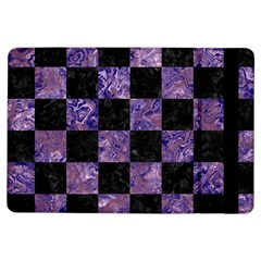 Square1 Black Marble & Purple Marble Apple Ipad Air Flip Case by trendistuff