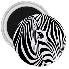 Animal Cute Pattern Art Zebra 3  Magnets
