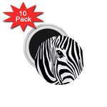 Animal Cute Pattern Art Zebra 1.75  Magnets (10 pack)  Front