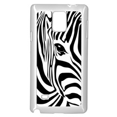 Animal Cute Pattern Art Zebra Samsung Galaxy Note 4 Case (white)