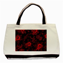 Small Red Roses Basic Tote Bag by Brittlevirginclothing