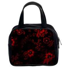 Small Red Roses Classic Handbags (2 Sides) by Brittlevirginclothing