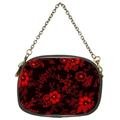 Small Red Roses Chain Purses (one Side)  by Brittlevirginclothing