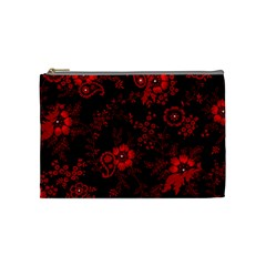 Small Red Roses Cosmetic Bag (medium)  by Brittlevirginclothing