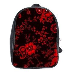 Small Red Roses School Bags(large)  by Brittlevirginclothing