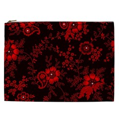 Small Red Roses Cosmetic Bag (xxl)  by Brittlevirginclothing