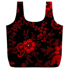Small Red Roses Full Print Recycle Bags (l)  by Brittlevirginclothing
