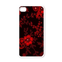Small Red Roses Apple Iphone 4 Case (white) by Brittlevirginclothing