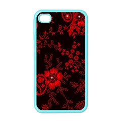 Small Red Roses Apple Iphone 4 Case (color) by Brittlevirginclothing