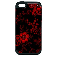 Small Red Roses Apple Iphone 5 Hardshell Case (pc+silicone) by Brittlevirginclothing