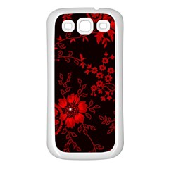 Small Red Roses Samsung Galaxy S3 Back Case (white) by Brittlevirginclothing