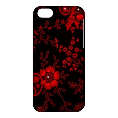 Small Red Roses Apple Iphone 5c Hardshell Case by Brittlevirginclothing