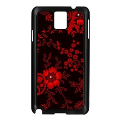 Small Red Roses Samsung Galaxy Note 3 N9005 Case (black) by Brittlevirginclothing