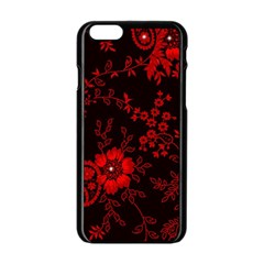 Small Red Roses Apple Iphone 6/6s Black Enamel Case by Brittlevirginclothing