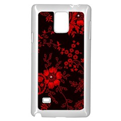 Small Red Roses Samsung Galaxy Note 4 Case (white) by Brittlevirginclothing