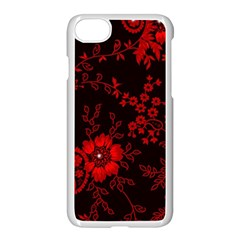 Small Red Roses Apple Iphone 7 Seamless Case (white) by Brittlevirginclothing