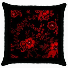 Small Red Roses Throw Pillow Case (black) by Brittlevirginclothing