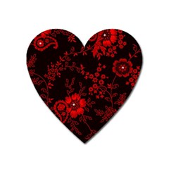 Small Red Roses Heart Magnet by Brittlevirginclothing