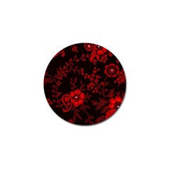 Small Red Roses Golf Ball Marker by Brittlevirginclothing