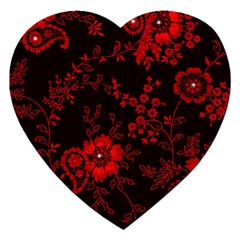 Small Red Roses Jigsaw Puzzle (heart) by Brittlevirginclothing