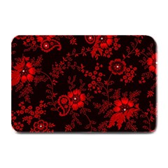 Small Red Roses Plate Mats by Brittlevirginclothing