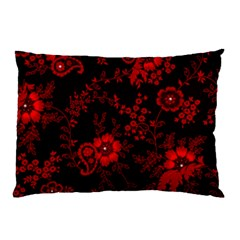 Small Red Roses Pillow Case by Brittlevirginclothing