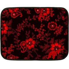 Small Red Roses Fleece Blanket (mini) by Brittlevirginclothing