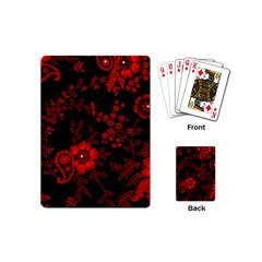 Small Red Roses Playing Cards (mini)  by Brittlevirginclothing