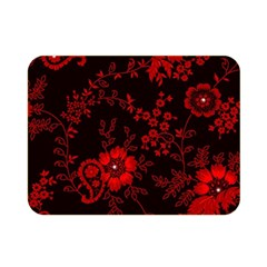 Small Red Roses Double Sided Flano Blanket (mini)  by Brittlevirginclothing