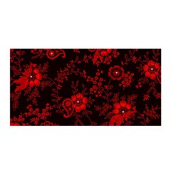 Small Red Roses Satin Wrap by Brittlevirginclothing