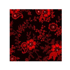 Small Red Roses Small Satin Scarf (square)  by Brittlevirginclothing