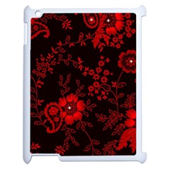 Small Red Roses Apple Ipad 2 Case (white) by Brittlevirginclothing