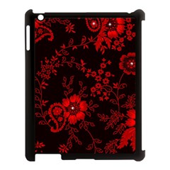 Small Red Roses Apple Ipad 3/4 Case (black) by Brittlevirginclothing