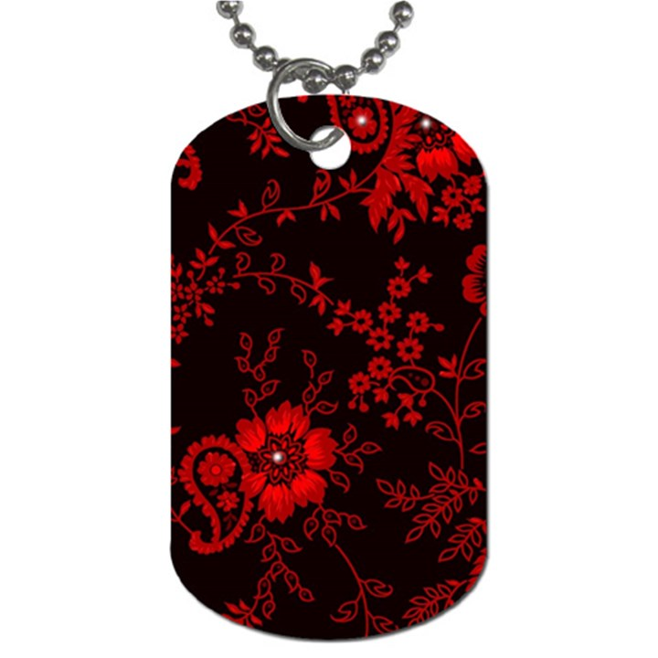 Small Red Roses Dog Tag (Two Sides)