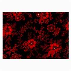 Small Red Roses Large Glasses Cloth (2 Side) by Brittlevirginclothing