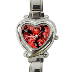 Red Roses  Heart Italian Charm Watch by Brittlevirginclothing