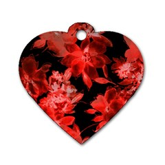 Red Roses  Dog Tag Heart (one Side) by Brittlevirginclothing