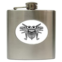 Body Part Monster Illustration Hip Flask (6 Oz) by dflcprints
