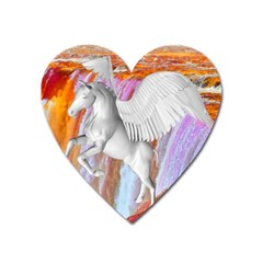 Pegasus Heart Magnet by icarusismartdesigns