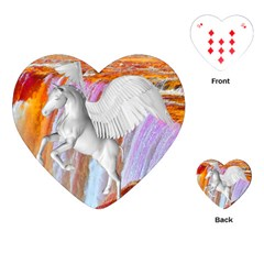 Pegasus Playing Cards (heart)  by icarusismartdesigns