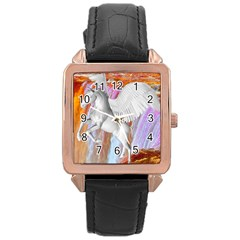 Pegasus Rose Gold Leather Watch  by icarusismartdesigns