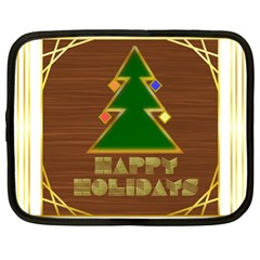 Art Deco Holiday Card Netbook Case (xl)