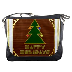 Art Deco Holiday Card Messenger Bags