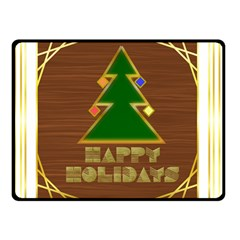 Art Deco Holiday Card Double Sided Fleece Blanket (small)