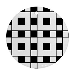 Black And White Pattern Ornament (round)  by Amaryn4rt