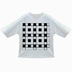 Black And White Pattern Infant/toddler T Shirts
